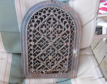 fancy cast iron heat grate, vent, industrial, cast iron