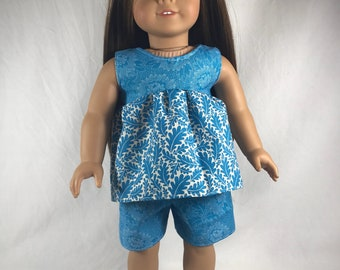 """18"""" Doll clothes. Our Generation, American Girl, Journey girl Clothes. Includes shorts, shirt and shoes"""