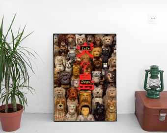 "Isle Of Dogs Movie Poster - Wes Anderson Film Print - Bryan Cranston Edward Norton - New Film Art Print Poster -  Size 13x20"" 24x36"" 32x48"""