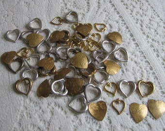 Craft Supplies: Hearts Vintage Jewelry Making Supplies and Blanks
