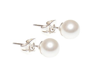 Earrings 'Sarah' - my wedding jewelry - timeless, we love beads!