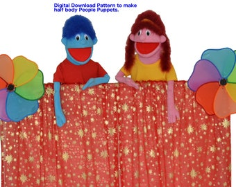01. People Puppet Pattern by Church Puppets