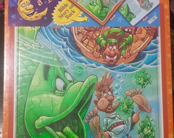 "Puzzle And Story - Once Upon A Puzzle  ""The Story Of Jonah"" Still Sealed Never Used"