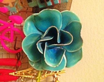 VinTagE TurQuoise Flower Broach