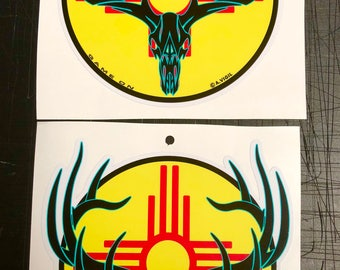 """New Mexico Bull or Buck GAME ON 6"""" decal"""