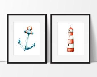 Nautical Decor, Anchor Decor, Bathroom Decor Nautical, Nautical Bathroom Decor