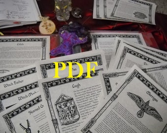 NEW Gods Goddesses and the Mighty Ones BOS Sheets PDF specialty pack -- 28 sheets -- Book of Shadows pages