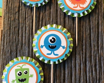 Lil' Monster Cupcake Toppers (Set of 12)