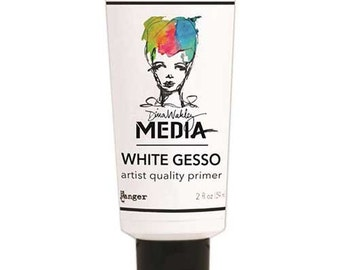 Dina Wakley Media Artist Quality Primer 2 oz Tube White Gesso