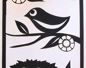 Nesting - Papercut Artwork