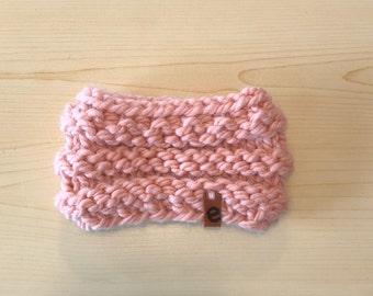chunky blush kids knit cowl