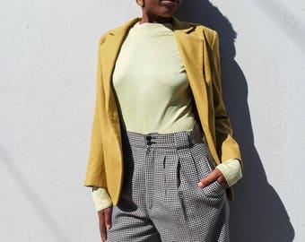 Chartreuse Wool Blazer