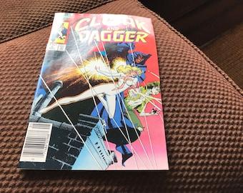 Vintage Cloak and Dagger Comic Book, Marvel No. 6, 1986