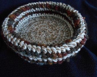 Crochet cat bed  pet bed beige brown handmade