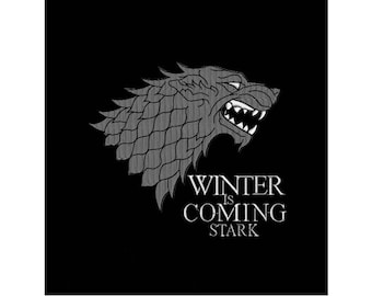 Machine Embroidery Design - Winter is Coming House Stark - DIREWOLF - Game of Thrones - 4 SIZES - Instant Download