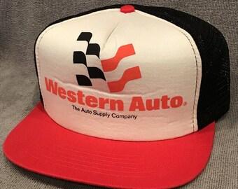Western Auto Trucker Hat Vintage Foam SnapBack Mesh Back Parts Cap 1903 9b699fb6a6a5