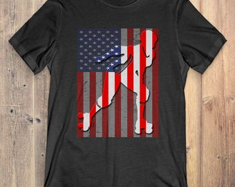 Roller Derby T-Shirt Gift: American Flag
