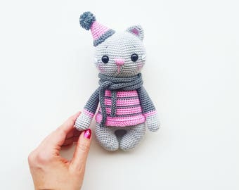 "Amigurumi Crochet Pattern ""Rosie the little cat"" (German/ English) PDF"