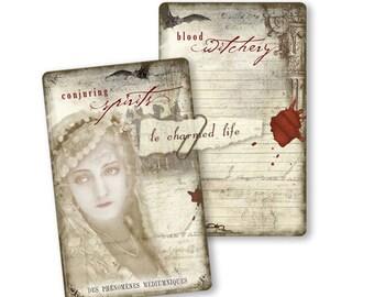 Halloween Journal Cards Digital Journal Vintage Collage Instant Download