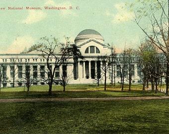 New National Museum on the Mall Washington D.C. Vintage Postcard 1910s (unused)