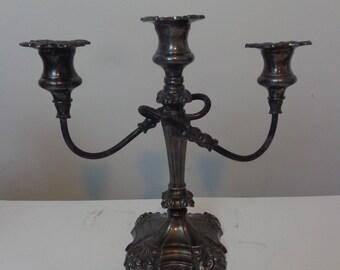 Vintage Three Tier Coronet Plate Candelabra , Candelabra Candle Coronet, Vintage Three Tier Candelabra, Coronet Plate Candle Holder Vintage