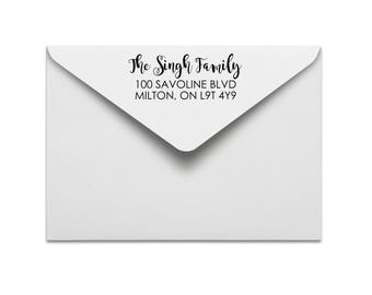 custom rubber stamp: custom address stamp, return address stamp, wedding address stamp, personal or family address stamp