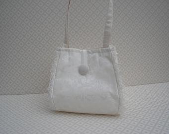SALE  Bridal bag, Ivory handbag, wedding purse, ivory silk bag, bridesmaids bag, ivory wedding bag, evening bag, Handmade in UK