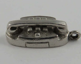 Princess Phone Sterling Silver Vintage Charm For Bracelet