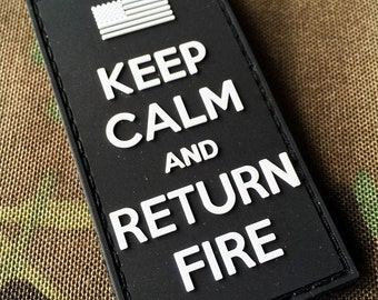 Swat Keep Calm and Return Fire Morale Patch US Flag Uksf British Army USA
