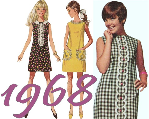Girls Summer Dress 60s Teen Dress SIMPLICITY 8011 sz 9 b 30.5