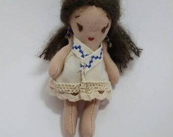 Handmade bohemian Mexican Style doll