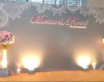 Customize Wedding Backdrop,Wedding Stage decor Photography Backdrop,Wedding Invitation photobooth background, photo prop  H1