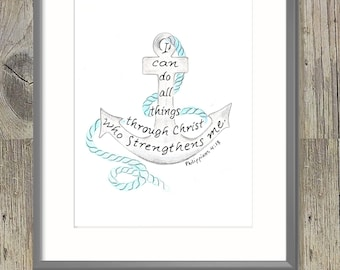 Anchor for the soul scripture design, Bible Verse art print, digital typography, wall art decor