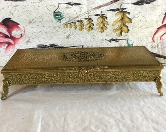 Large Rectangular Matson Stylebuilt Type Ormolu Casket Style Jewelry Box
