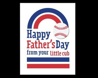 Father's Day Cubs Fan - Card