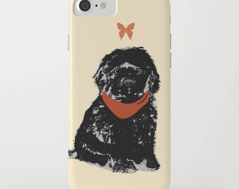 Black Cockapoo Dog on Phone Case -  iPhone 6S, iPhone 6 Plus, Gifts for Pet Lovers, Samsung Galaxy S7, Cockapoo , iPhone 8