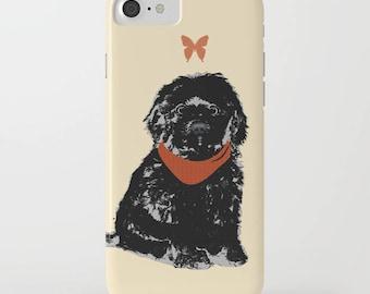 Chien Cockapoo noir sur portable - iPhone 6 s, iPhone 6 Plus, cadeaux pour les amoureux des animaux, Samsung Galaxy S7, Cockapoo iPhone 8