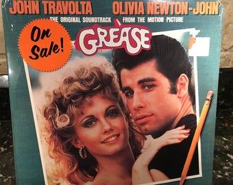 "Grease 'Original Movie Soundtrack"" Factory Vintage Sealed NOS NEW Vinyl Record LP 1978 - Excellent Condition - John Travolta - Free Shipping"