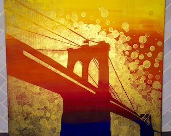 Brooklyn Bridge Painting//New York Painting//Brooklyn Bridge Art