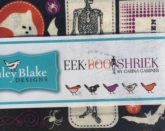 "EEK BOO SHRIEK by Carina Gardner for Riley Blake Designs, 42 -  5"" x 5"" charm pack fabric"