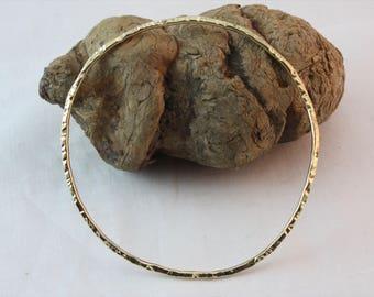 Bangle Bracelet / Brass Bracelet / Women's Jewelry / Stacking Bangle Bracelet