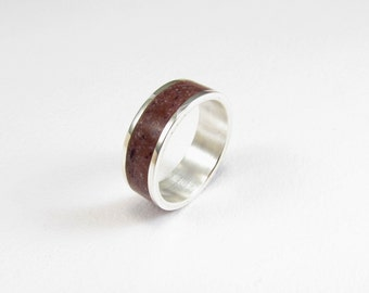 Purple Ring, Sterling Silver Ring, Soft, Color, Wedding,  Band, Contemporary, Modern, Minimal