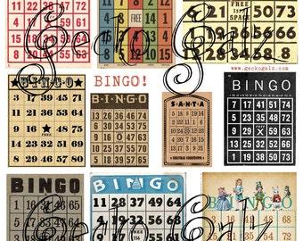 Bingo Cards Digital Collage Sheet