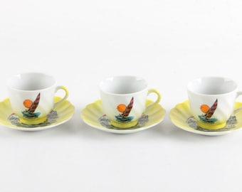 California  Teacups and Saucers