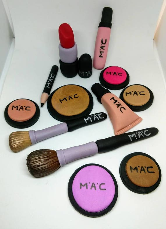 Fondant Makeup Mac Inspired Cake Toppers Makeup Cake Toppers