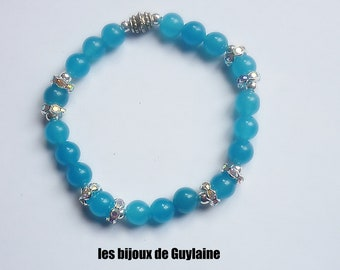 Stone agate and Crystal bracelet