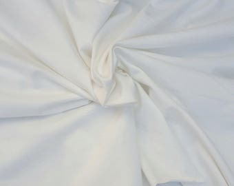 Off White Cotton Spandex Fabric Jersey Knit By the Yard 4 Way Stretch 11/15