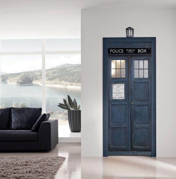 Door Sticker POLICE BOX Vinyl Decal Poster Mural Dr who Tardis