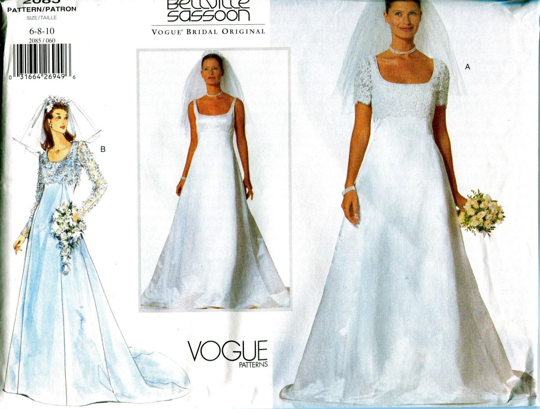 WEDDING DRESS PATTERN Vogue 2085 Bridal Bolero Jacket Bellville ...