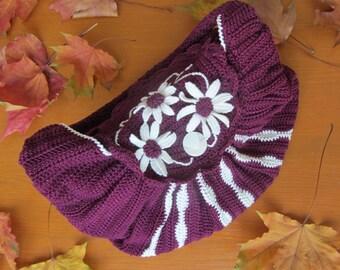 Crocheted bag, Flower bag, Women's Handbag, Cotton Bag, Handmade Handbag, Cotton Handbag, Crochet Bag, Girl's Bag, Gift